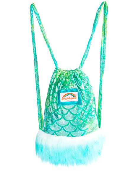 Aqua Mermaid Light-Up Mini Backpack