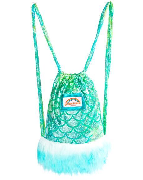 Aqua Mermaid Light-Up Mini Backpack