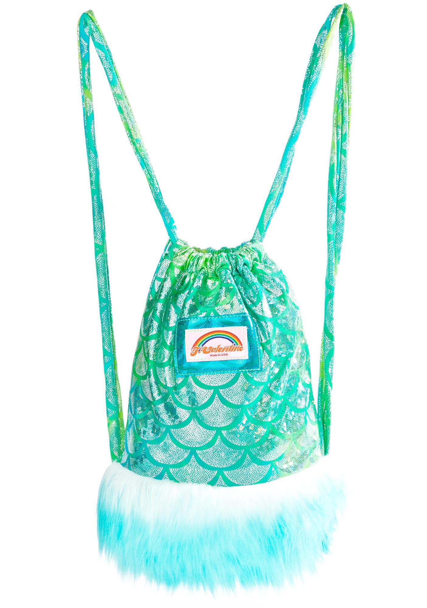 J Valentine Aqua Mermaid Light-Up Mini Backpack