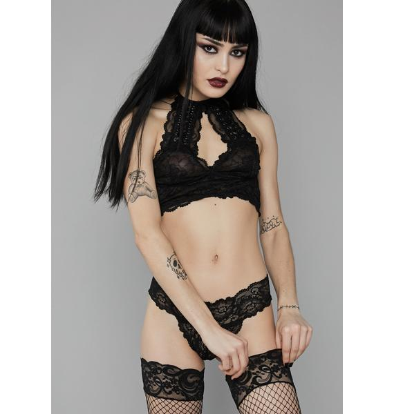 Widow Sorrow Solitude Lace Bra