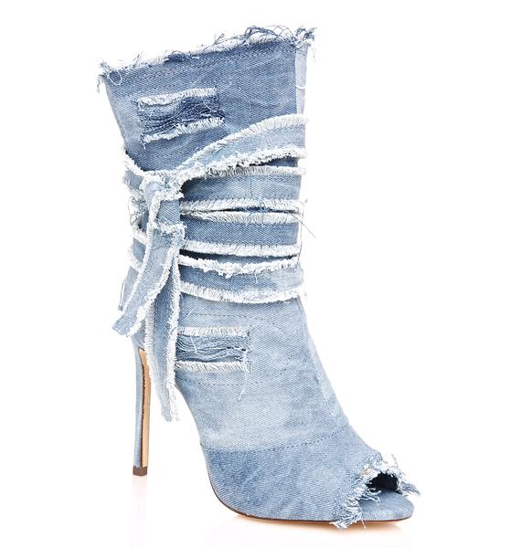 Benatar Denim Ankle Bootie