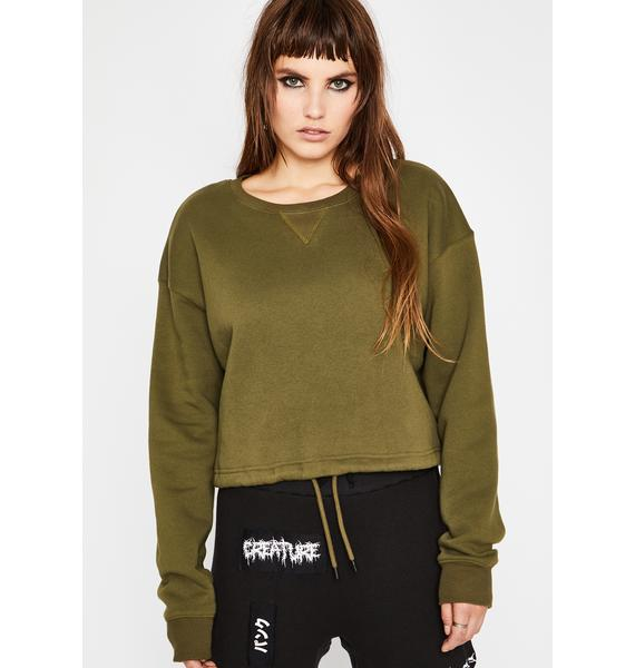 Current Mood Fresh Off Suspension Crop Pullover