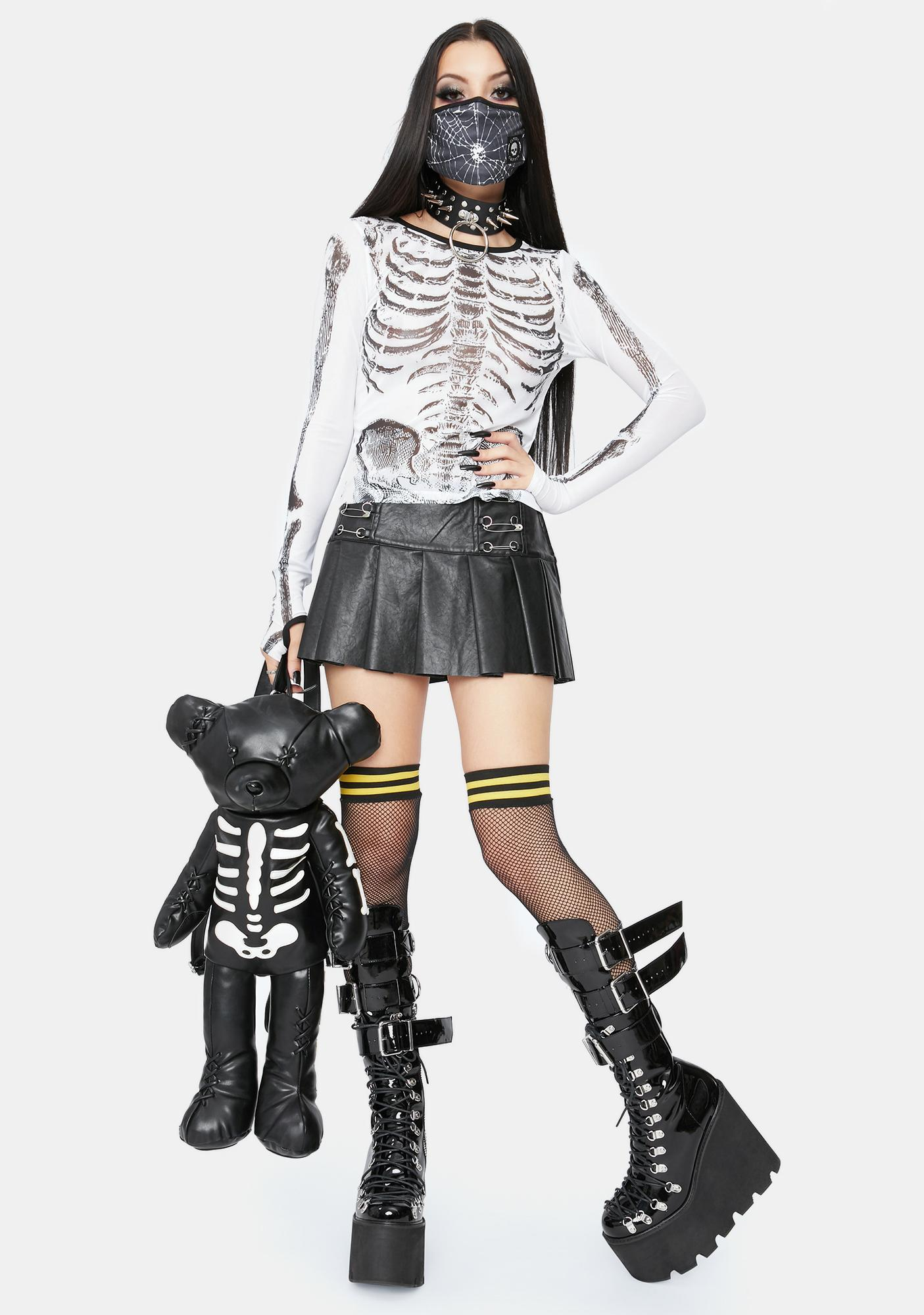 Dolls Kill Dust To Dust Mesh Top