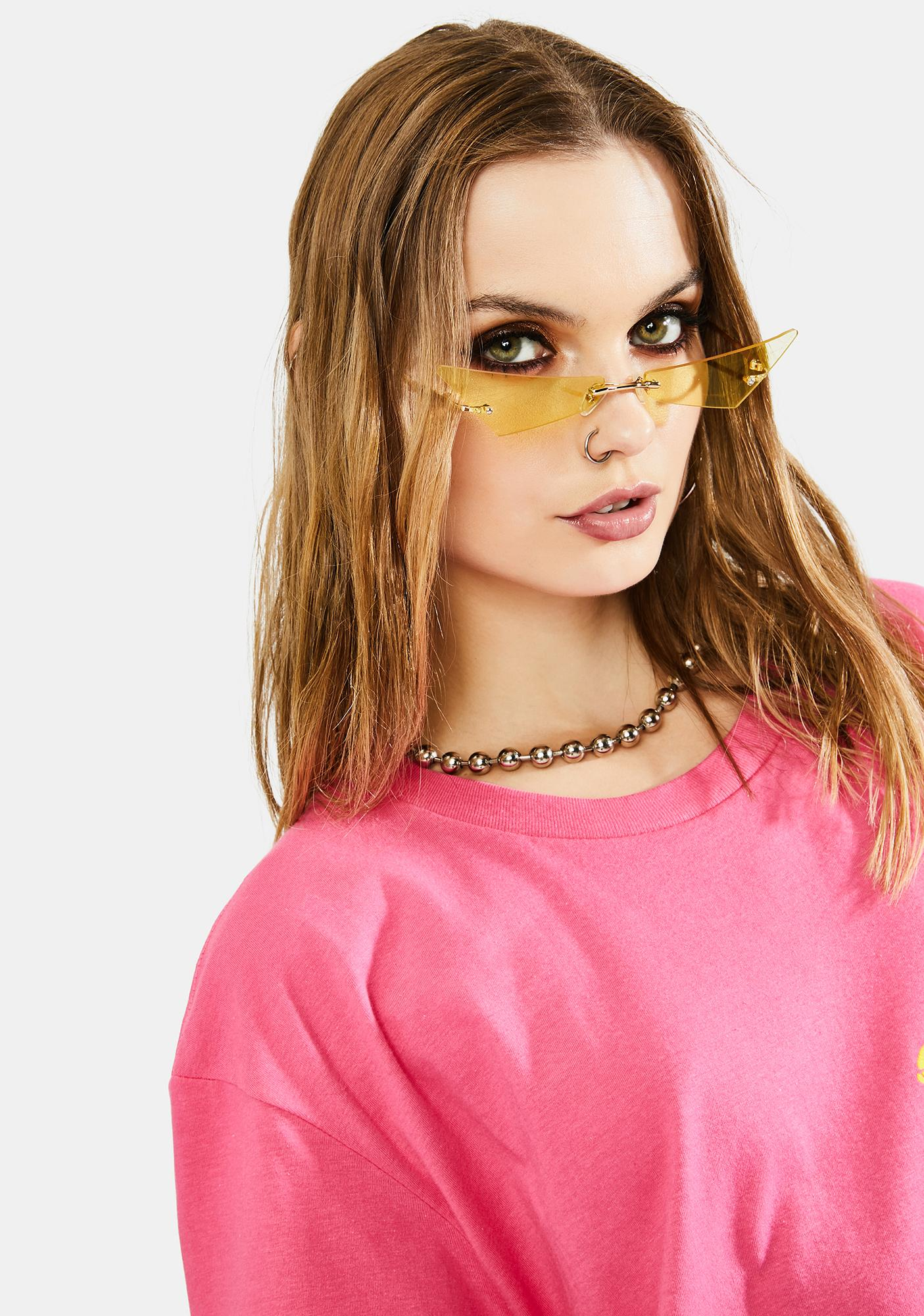Zest Don't Mean A Thang Slim Cat Eye Sunglasses