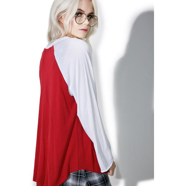 Wildfox Couture Sorry I Can't Rebel Raglan