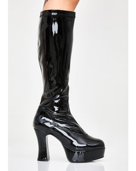 She's Scary Sexxxy Patent Boots