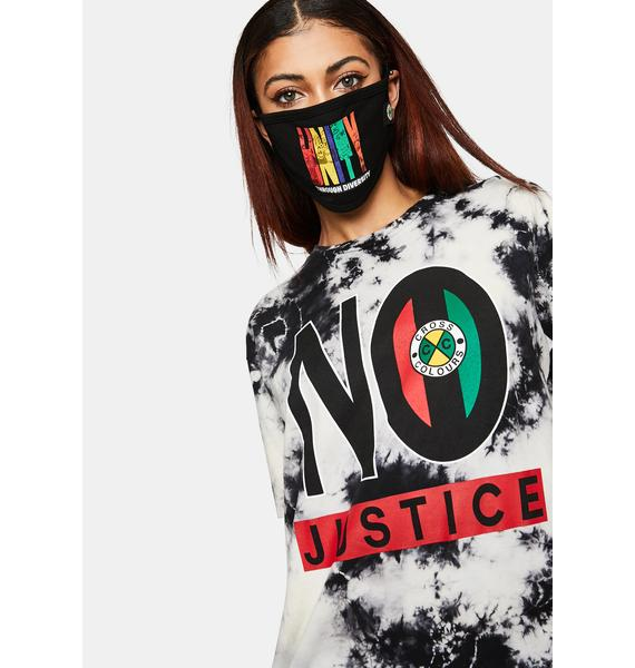 Cross Colours No Justice No Peace Tie Dye T-Shirt