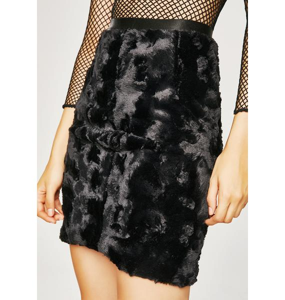 Grizzly Bae Furry Skirt