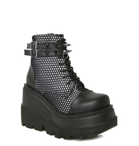 Demonia Exclusive Bondage Technopagan Boots