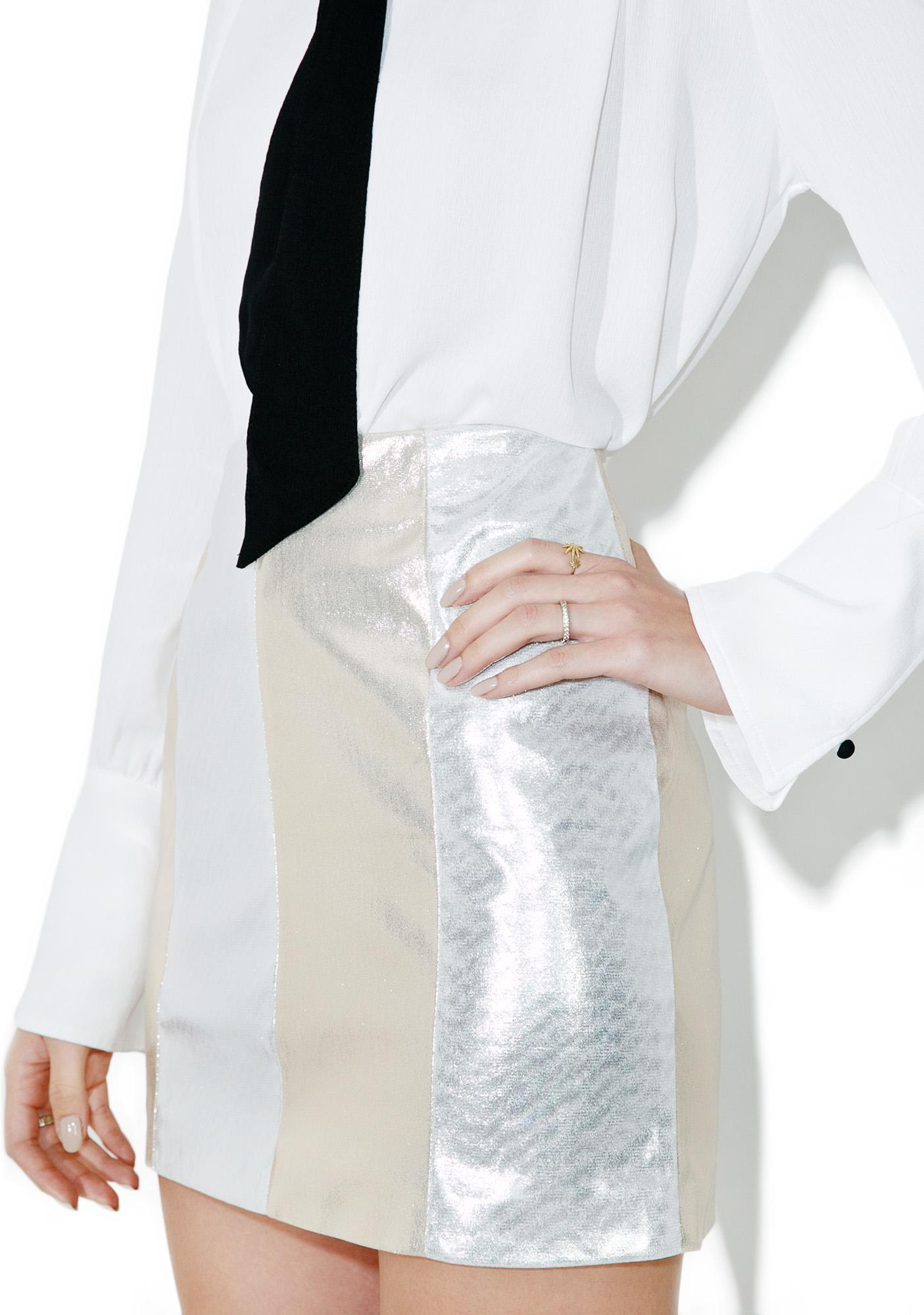 Dazzlin' Gleam Metallic Mini Skirt