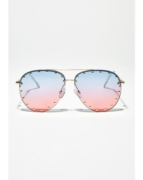 Pretty N Punk Aviator Sunglasses