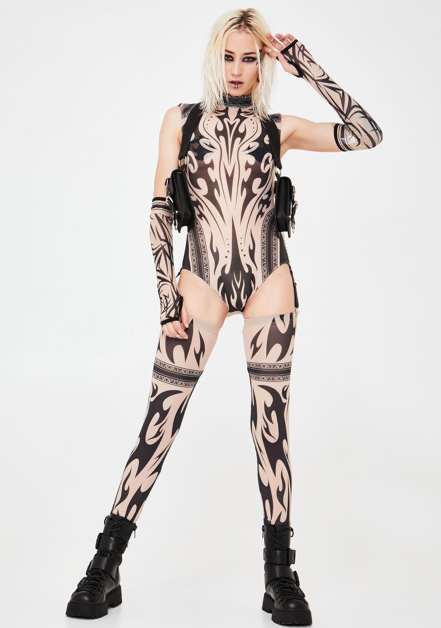 Club Exx Sharpshooter Mesh Bodysuit