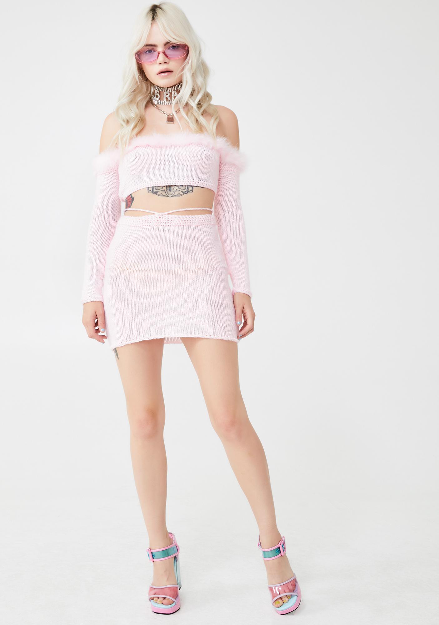 JBD Apparel Party Kitten Skirt Set