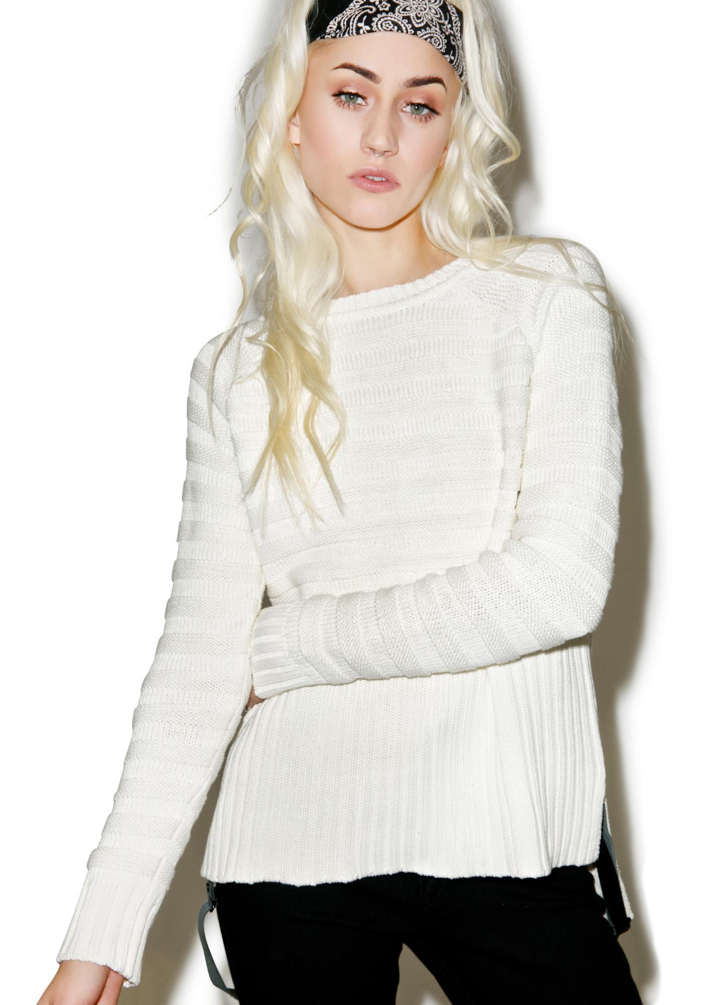 For Love & Lemons Natalie Silk Sweater