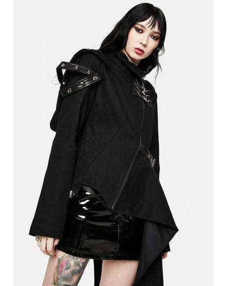 Hooded Asymmetrical Jacket