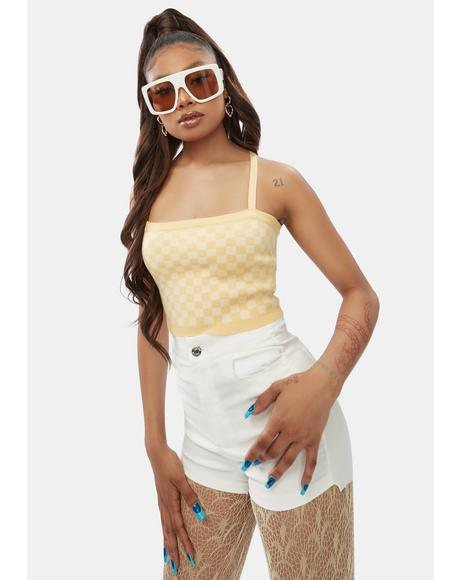 Check Yourself Knit Crop Top