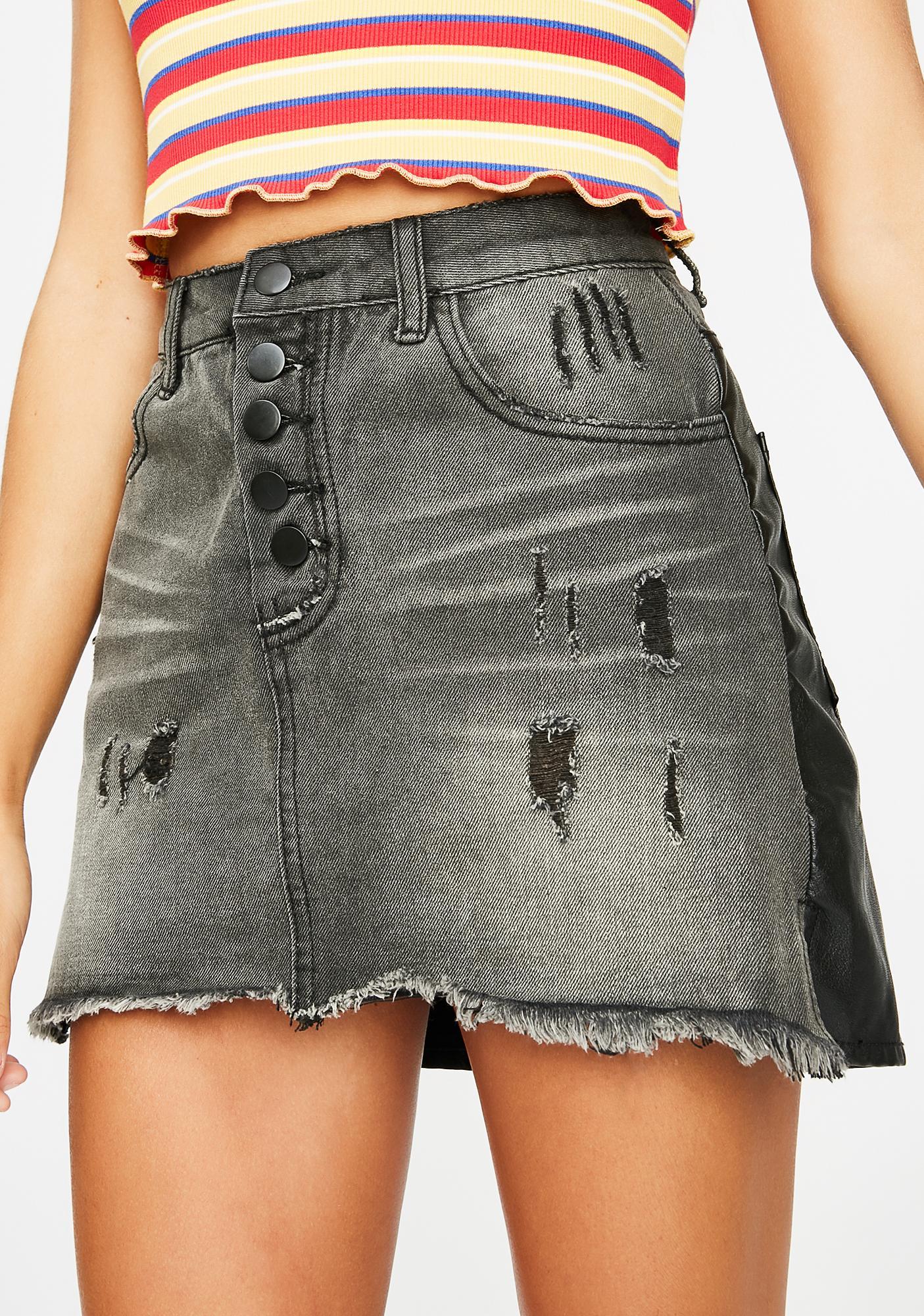Do You Tho Denim Skirt