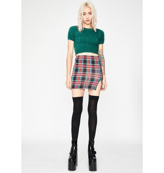 Pained With Disdain Mini Skirt