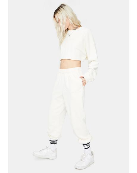 Business Casual Cropped Joggers Set