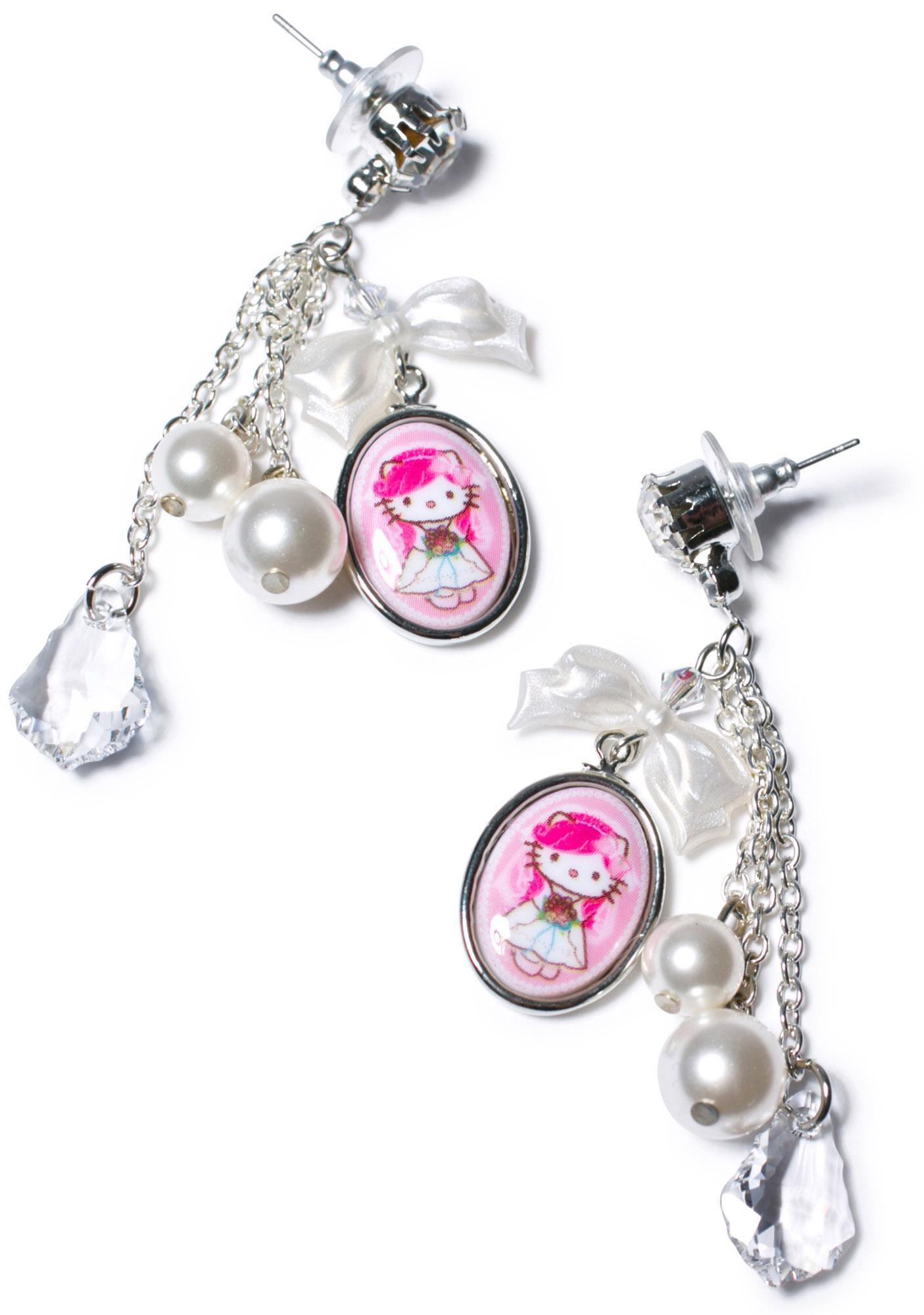 Tarina Tarantino Bridal Chain Drop Earrings