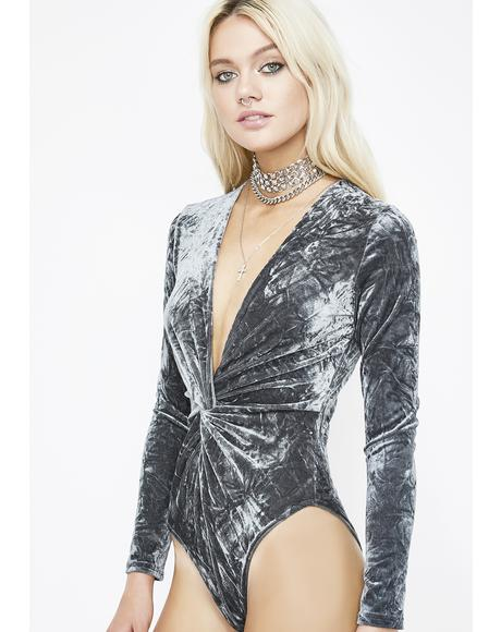 Sky Around That Track Velvet Bodysuit