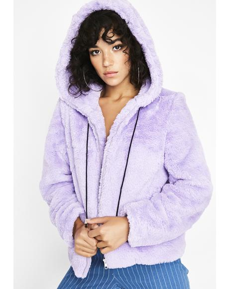 Fuzzy Feelings Hooded Jacket