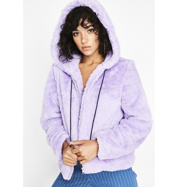 Fuzzy Feelings Hooded Jacket