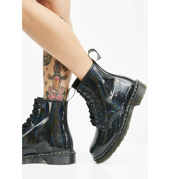 Dr. Martens 1460 Rainbow Patent Boots