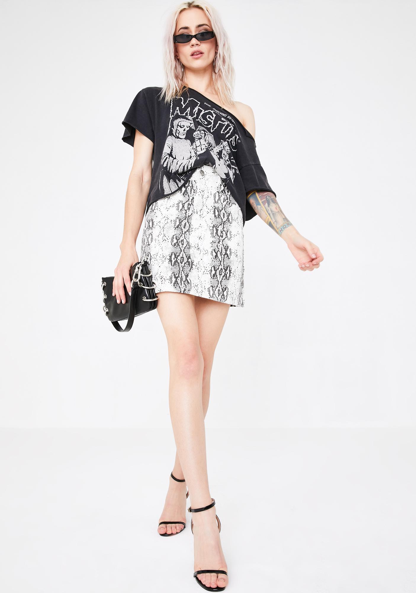 Runaway the Label Anaconda Mini Skirt