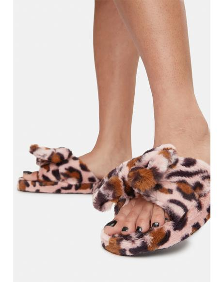 Savage Snuggle Up Fuzzy Slippers
