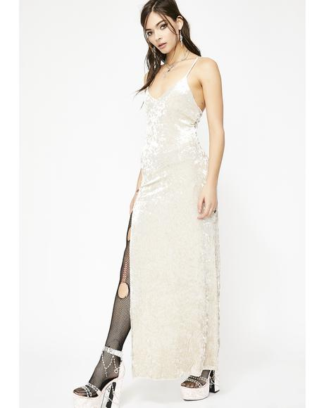 Holy Crushed Desires Velvet Maxi Dress