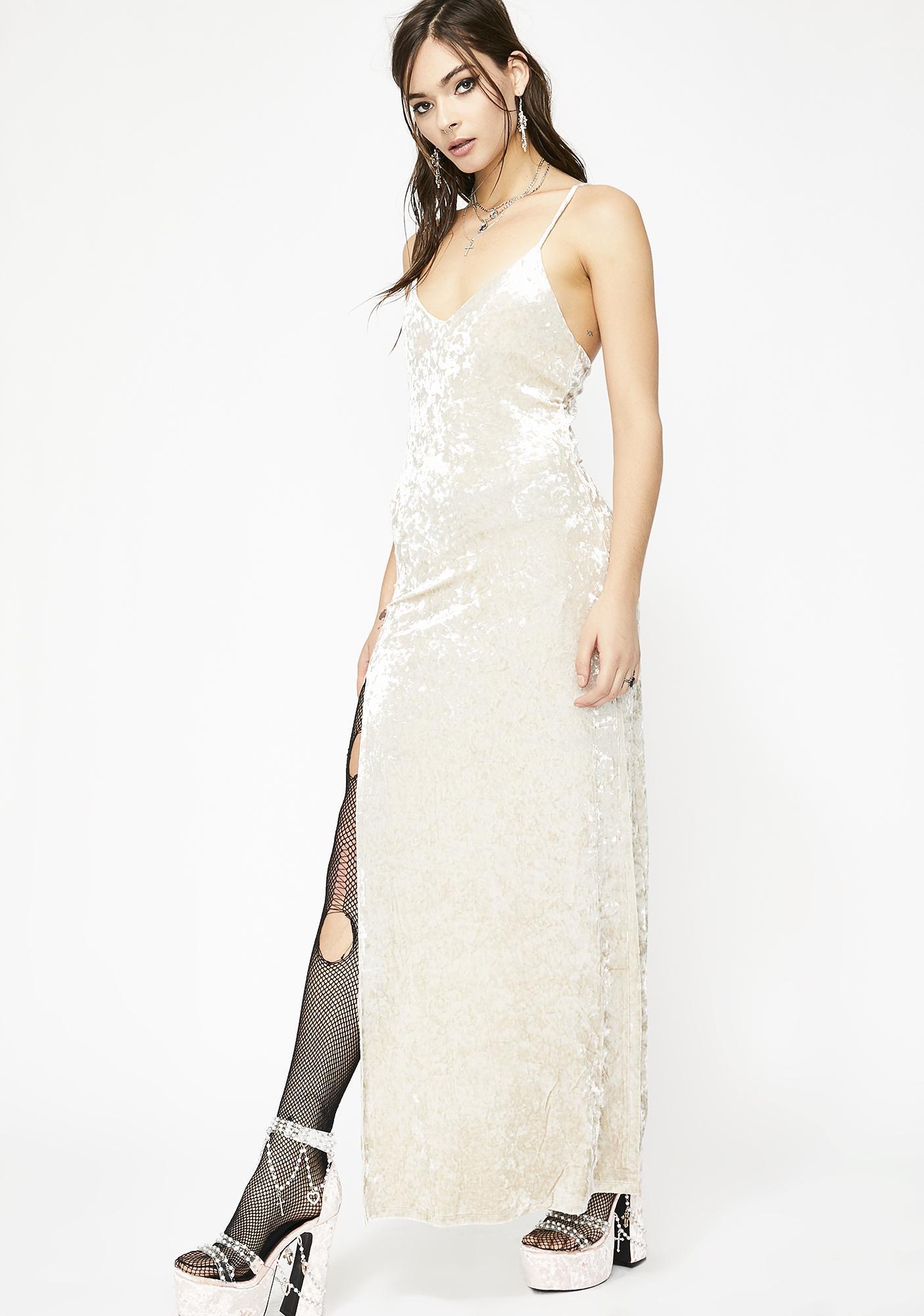Holy Crushed Desires Velvet Maxi Dress