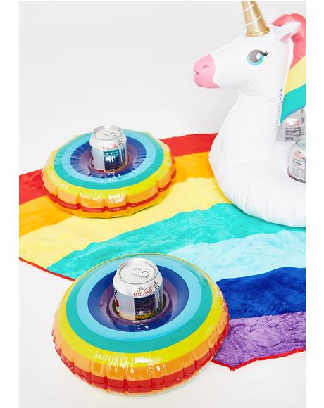 Dosed On Rainbowz Drink Holder Set