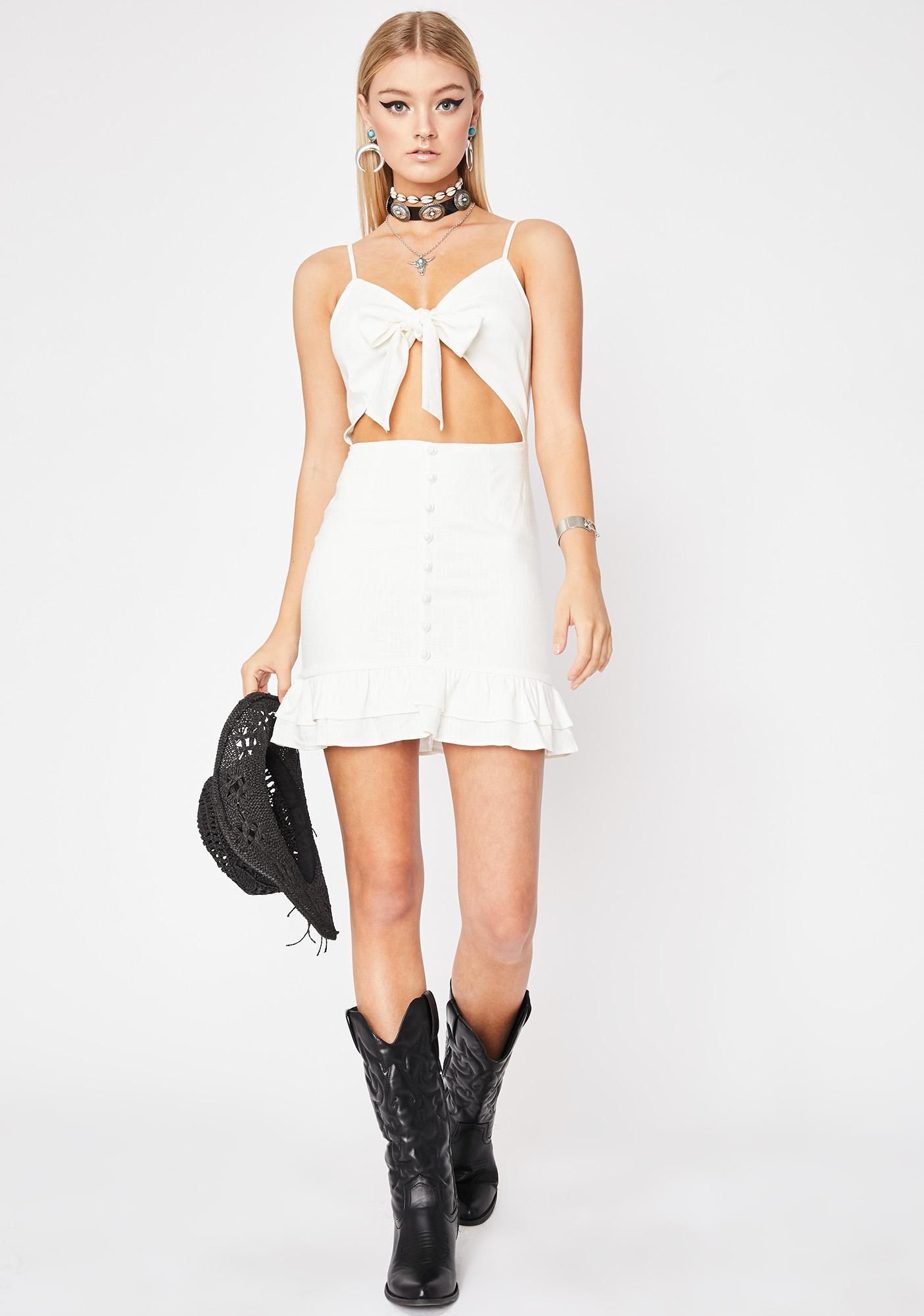 Drawn To You Cut-Out Dress