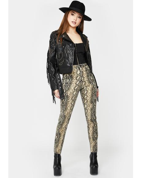 Instinct Snakeskin Jeans