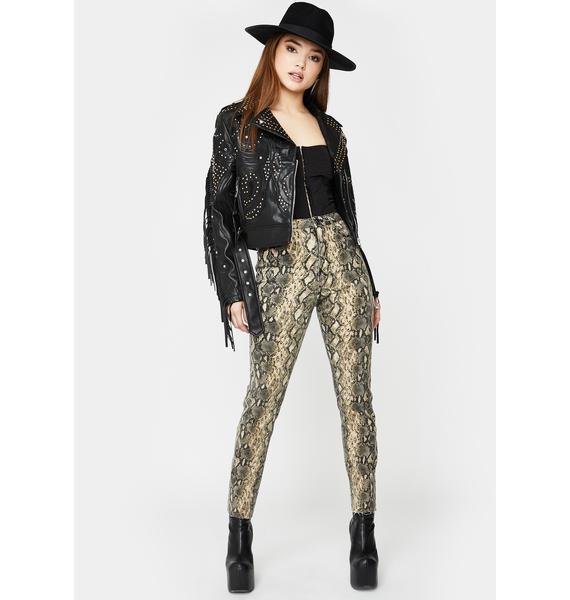 SNDYS. THE LABEL Instinct Snakeskin Jeans