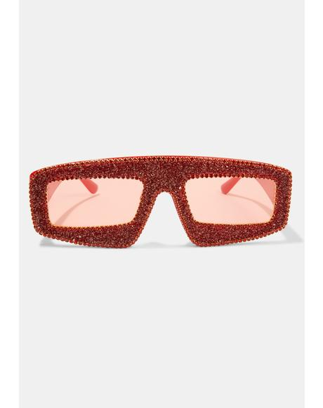 Hot Gossip Glam Shield Sunglasses