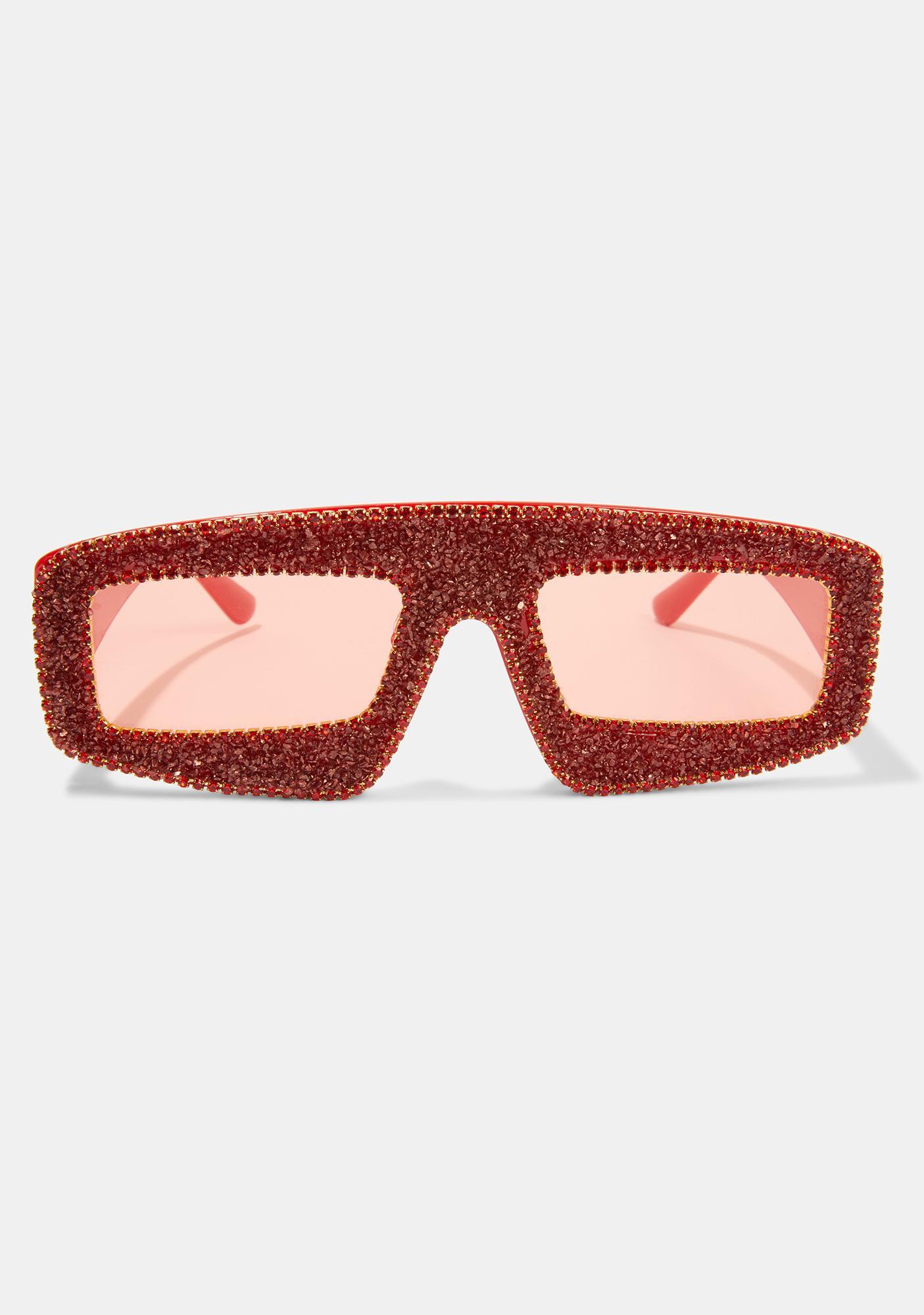 Hot Gossip Glam Shield Sunglasses