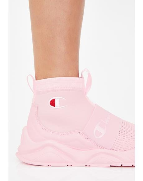 Pink Candy Rally Pro Sock Sneakers