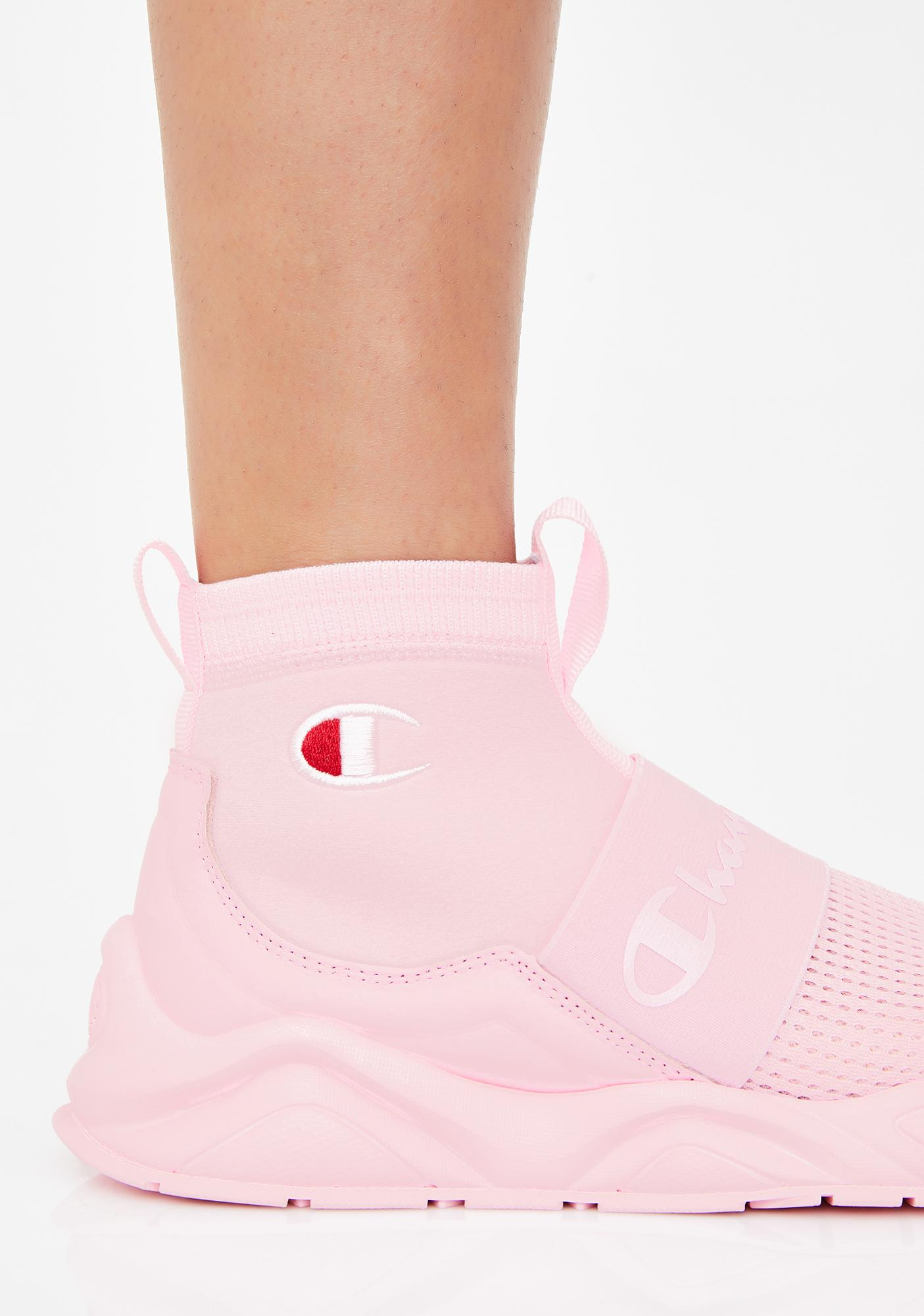 Champion Pink Candy Rally Sock Sneakers
