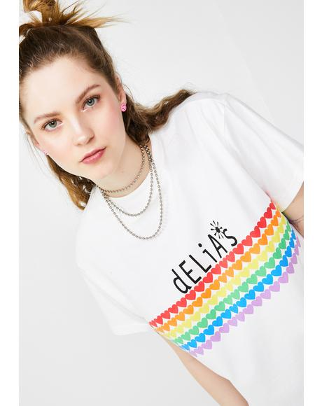 Rainbow Crush Oversized Tee