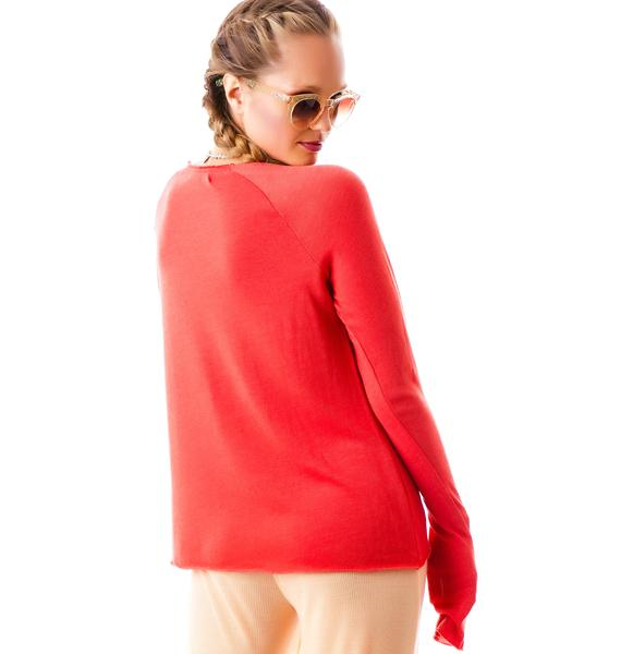 Wildfox Couture Swoon Baby Blanket Knit Cozy Raglan