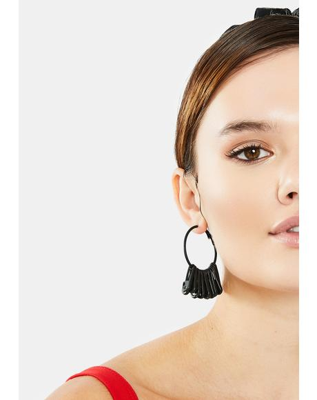 Better Believe It Safety Pin Hoop Earrings