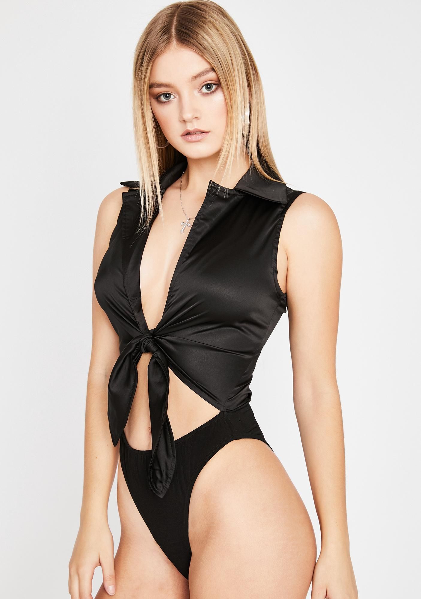 Sultry Affair Front Tie Bodysuit