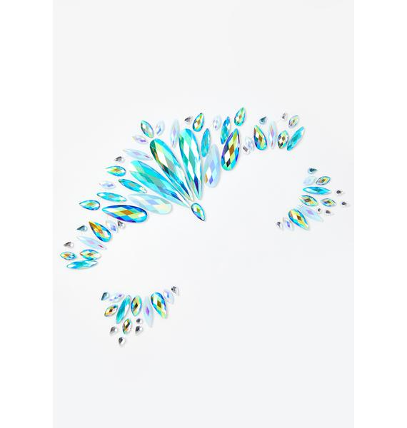 SHRINE Snow Queen Iridescent Face Jewels