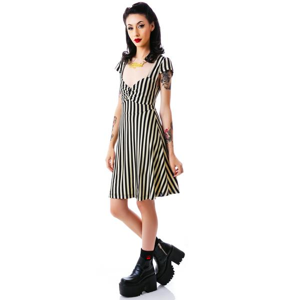 Sourpuss Clothing Vavavoom Stripe Dress