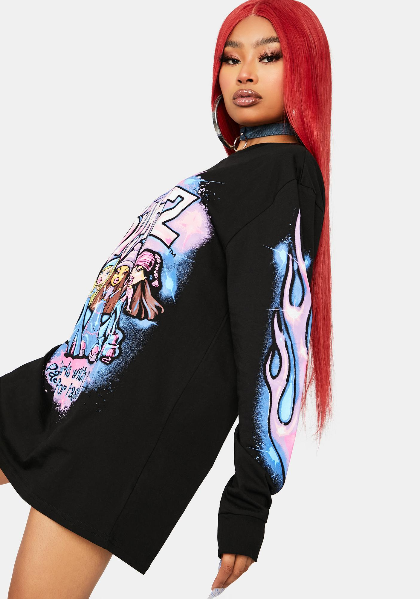 Dolls Kill x Bratz Noir Bratz Pack Graphic Long Sleeve Tee