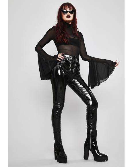 Twisted Desire Vinyl Leggings