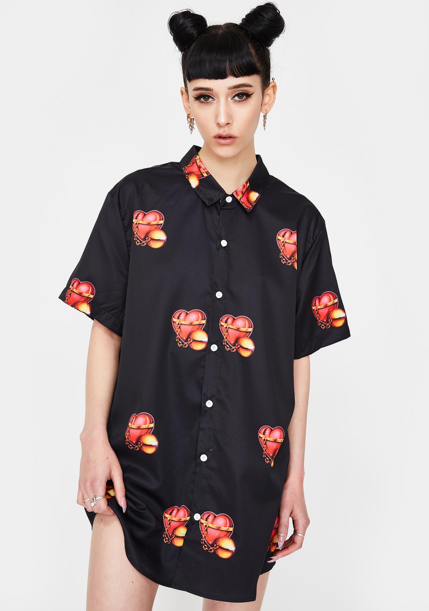 BROKEN PROMISES CO Ball N Chain Button Up Shirt