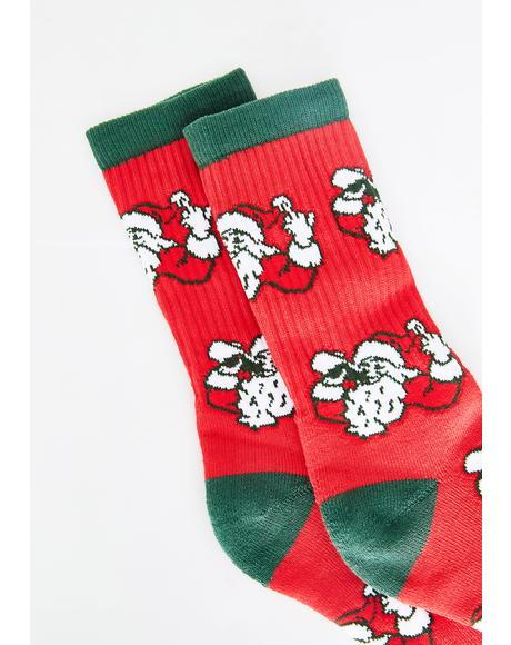 Sippin Santa Socks